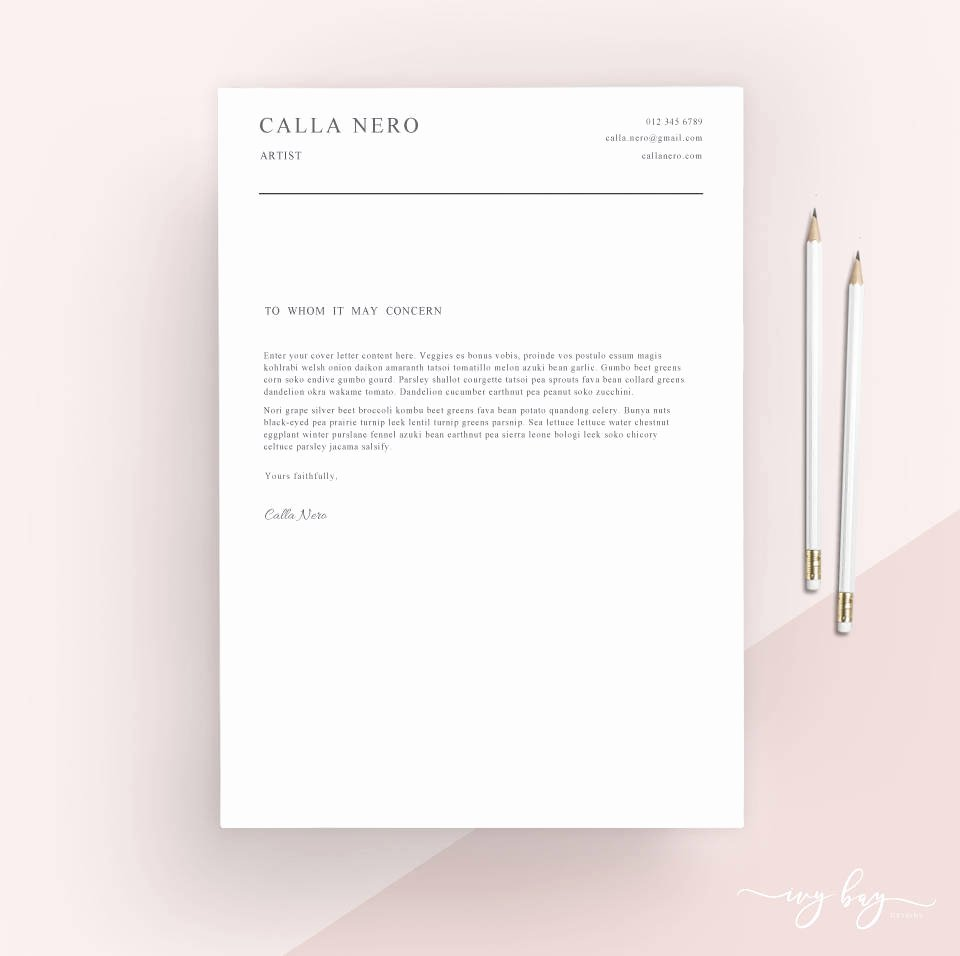Simple Cover Letter Template Word Elegant Simple Cover Letter Template Cover Letter Letterhead Word
