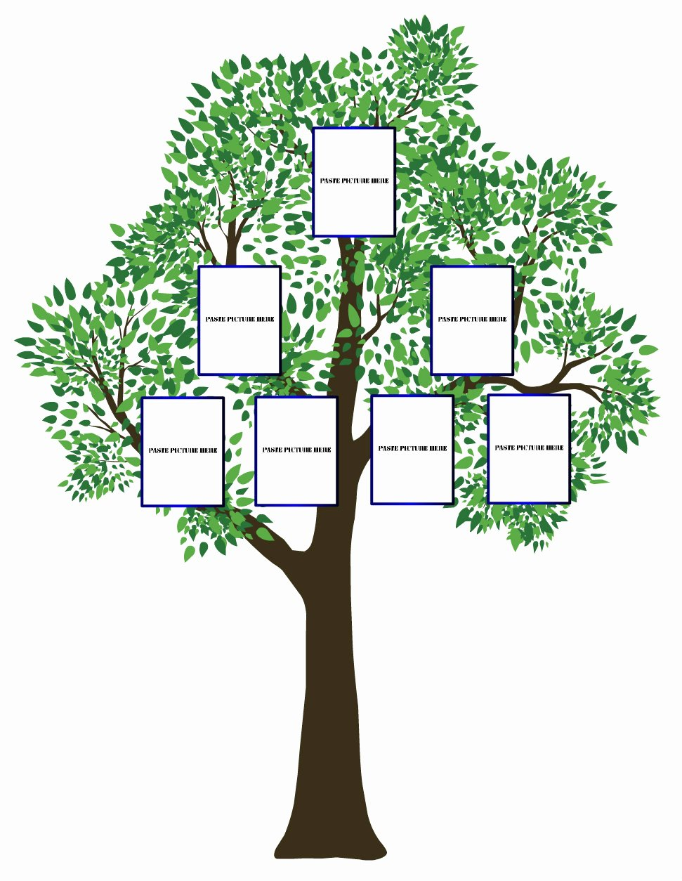 Simple Family Tree Template Awesome Simple Family Tree Template Clipart Best