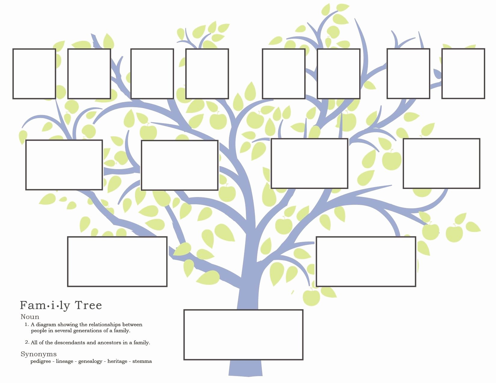 Simple Family Tree Template Beautiful Family History Activities for Children 3 11