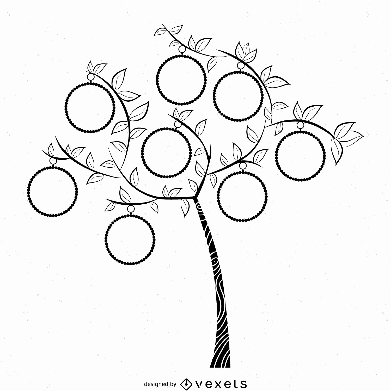 Simple Family Tree Template Elegant Simple B&w Family Tree Template Vector