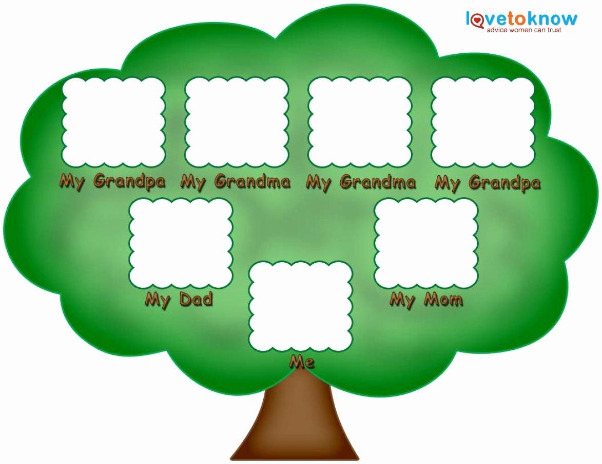 Simple Family Tree Template Fresh Preschool Family Tree Family Tree Kids