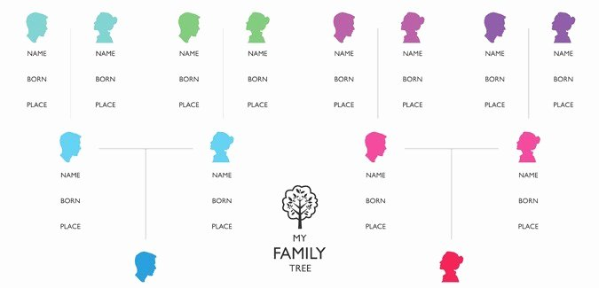 Simple Family Tree Template Inspirational Family Tree Template Paperzip
