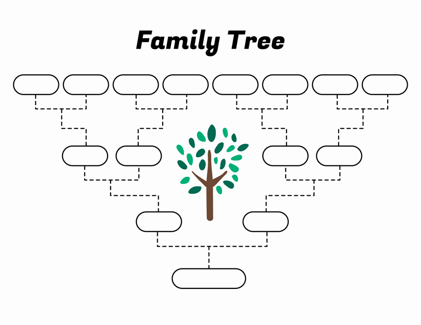 Simple Family Tree Template Inspirational Simple Family Tree Template – Free Family Tree Templates