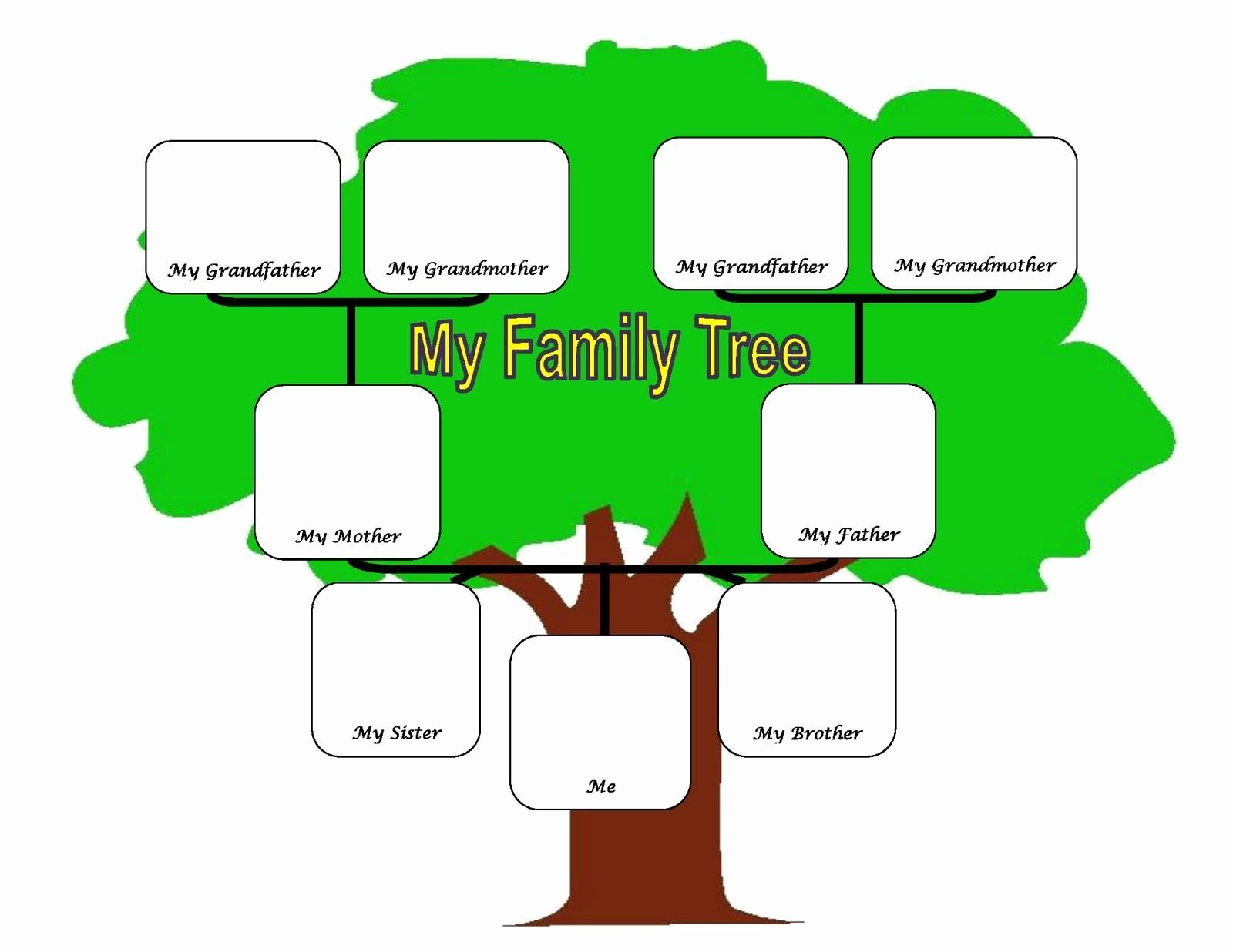 Simple Family Tree Template Luxury Family Tree Fotolip Rich Image and Wallpaper