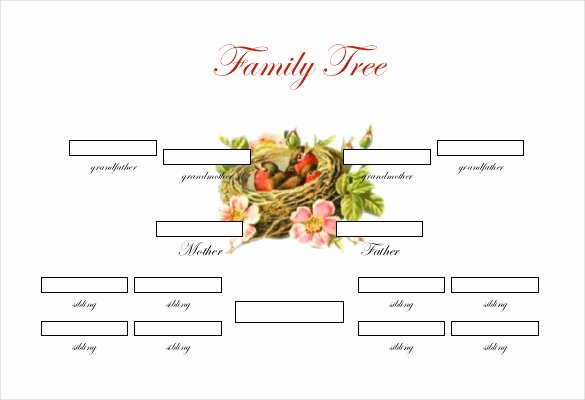 Simple Family Tree Template Luxury Simple Family Tree Template 25 Free Word Excel Pdf