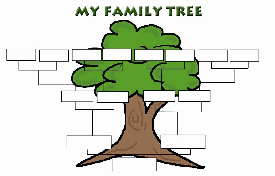Simple Family Tree Template New Simple Family Tree Template Clipart Best