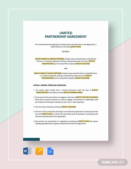 Simple Partnership Agreement Template Awesome General Partnership Agreement Sample 15 Examples In Pdf