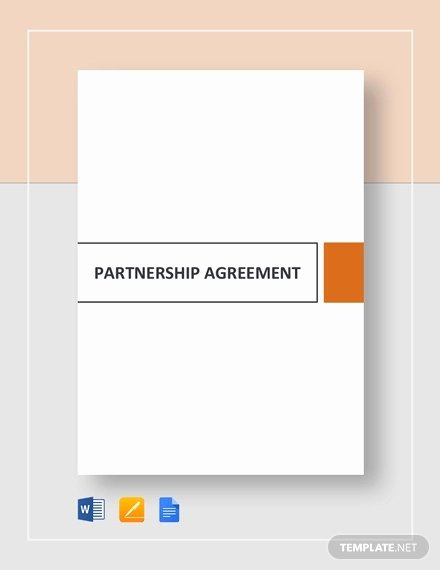 Simple Partnership Agreement Template Beautiful Partnership Agreement 20 Free Word Pdf Documents