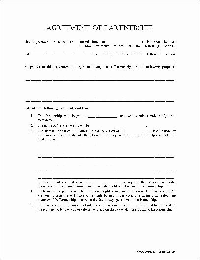 Simple Partnership Agreement Template Best Of Partnership Agreement Template