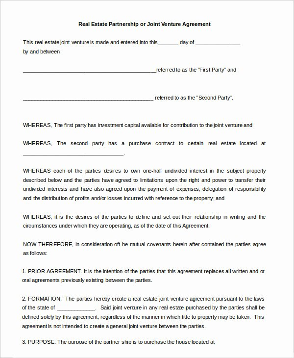 Simple Partnership Agreement Template Inspirational Partnership Agreement 9 Free Word Pdf Documents