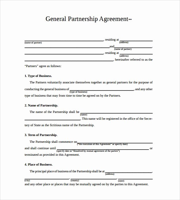 Simple Partnership Agreement Template New Business Partnership Agreement 12 Download Documents In