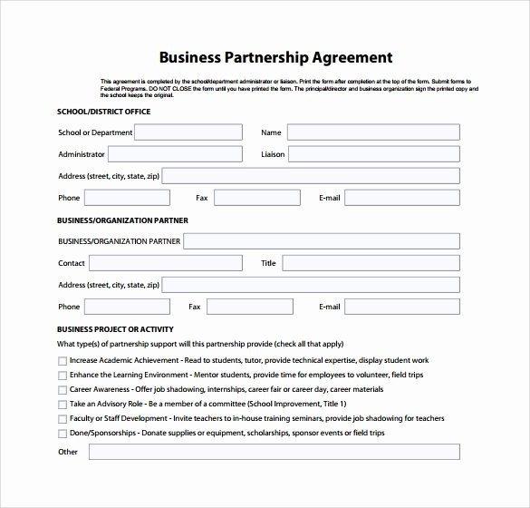 Simple Partnership Agreement Template New Sample Business Partnership Agreement – 10 Documents In