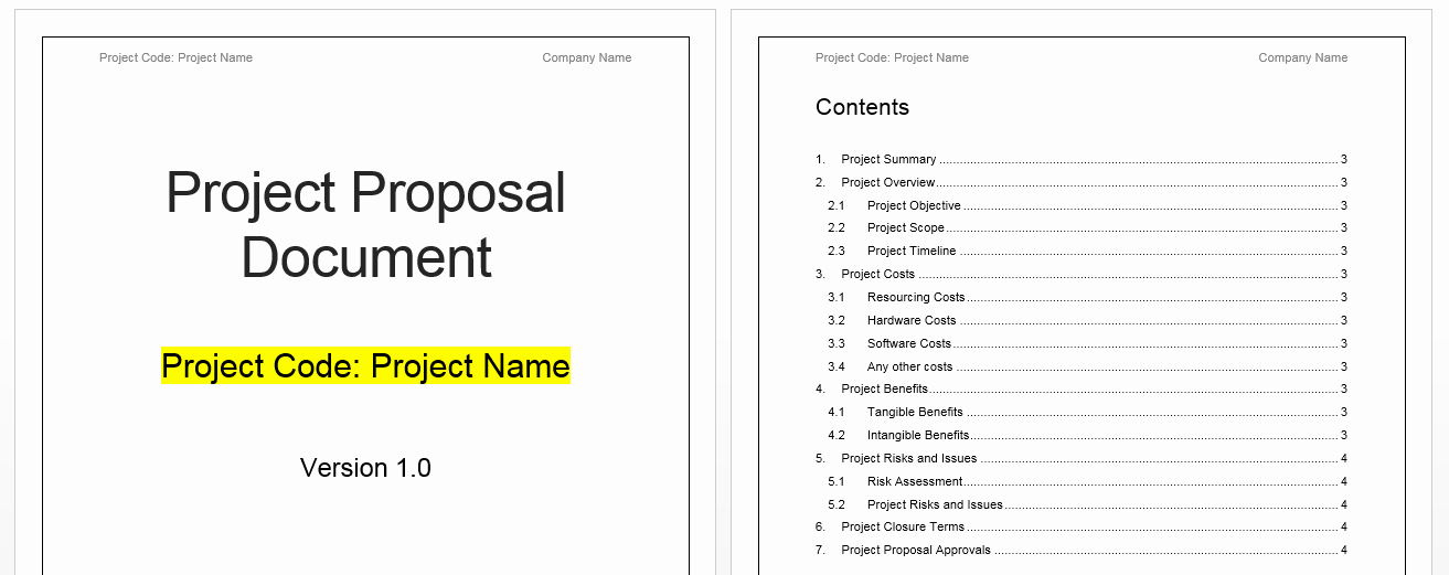 Simple Project Proposal Template Elegant Project Proposal Template Free Project Management Templates