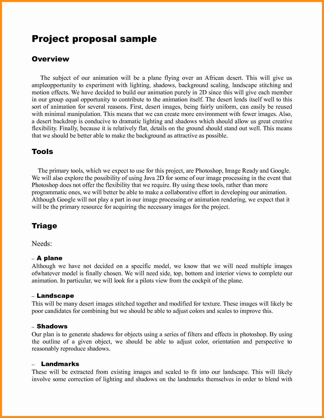 Simple Project Proposal Template Fresh Simple Project Proposal Example Business