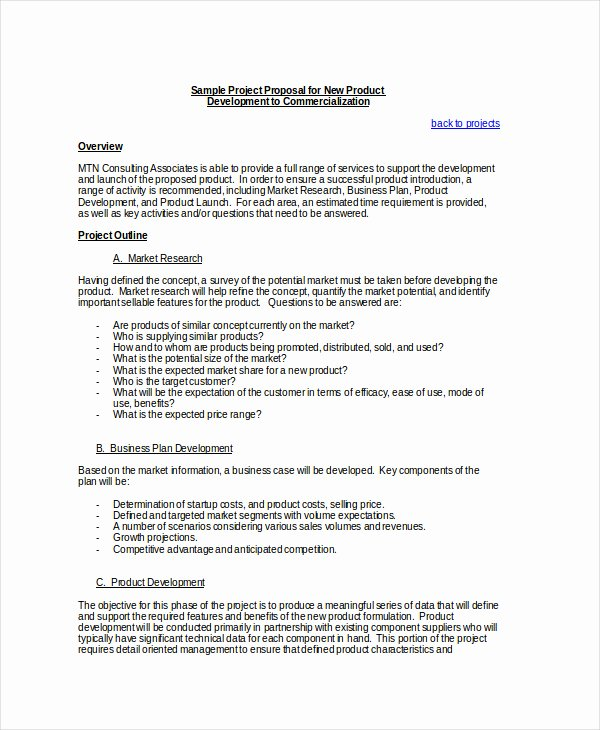 Simple Project Proposal Template Fresh Simple Project Proposal Example