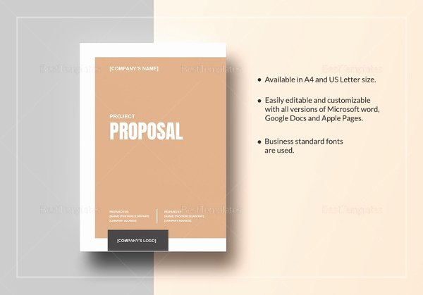 Simple Project Proposal Template Inspirational Project Proposal Template 18 Free Word Pdf Psd