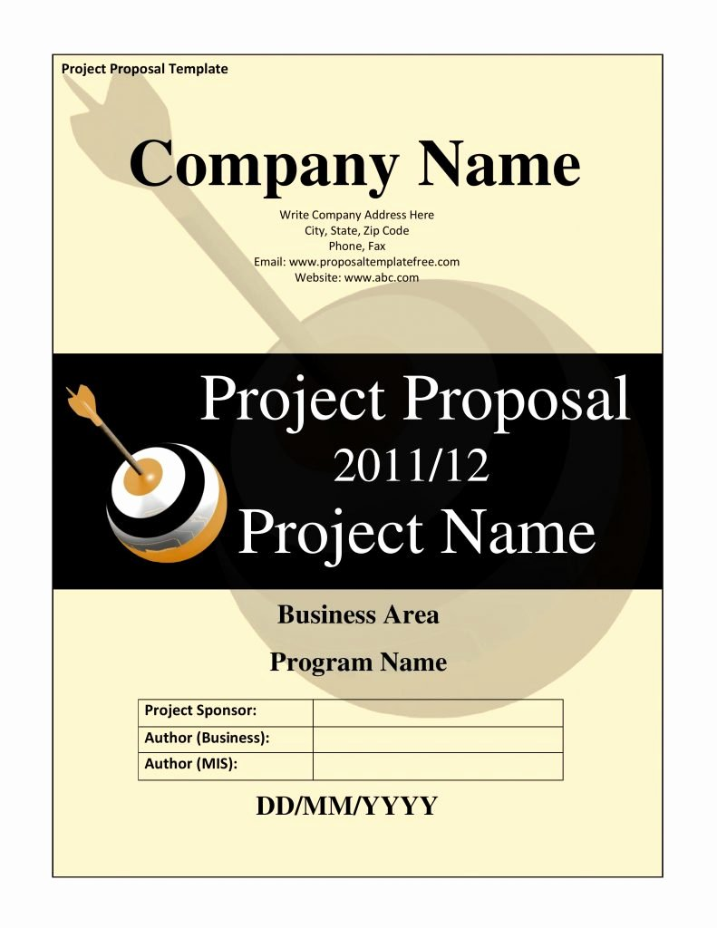 Simple Project Proposal Template Lovely 20 Free Project Proposal Template Ms Word Pdf Docx