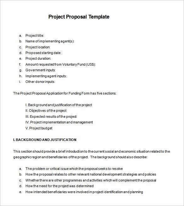 Simple Project Proposal Template Lovely Simple Project Proposal Example