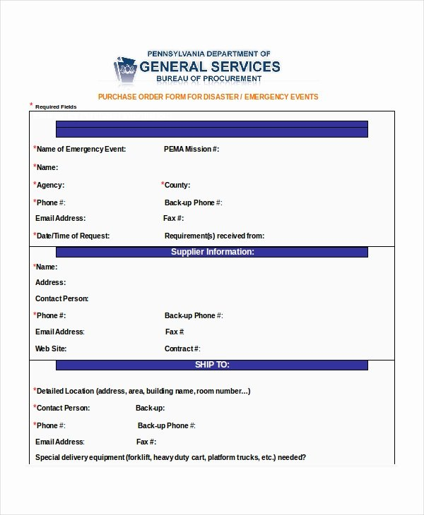 Simple Purchase order Template Beautiful 14 Purchase order Template Docs Word