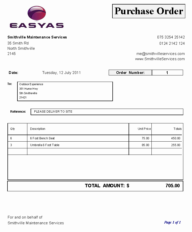 Simple Purchase order Template Best Of Purchase order Sample Using Our Set Purchase order