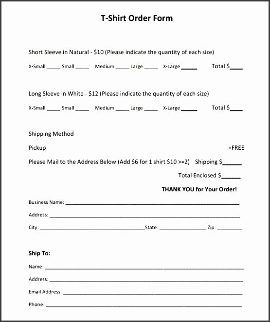 Simple Purchase order Template Inspirational 9 Simple order form Template Free Sampletemplatess