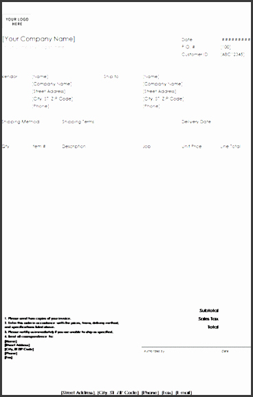 Simple Purchase order Template New 11 Purchase order Template In Excel Sampletemplatess