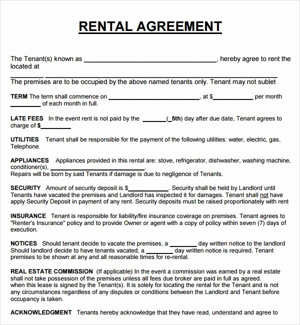 Simple Rental Agreement Template Word Awesome Pin On Real Estate forms Word