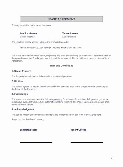 Simple Rental Agreement Template Word Beautiful Simple E Page Lease Agreement Template Pdf Templates