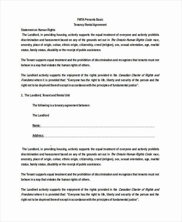 Simple Rental Agreement Template Word Best Of Basic Rental Agreement 16 Free Word Pdf Documents