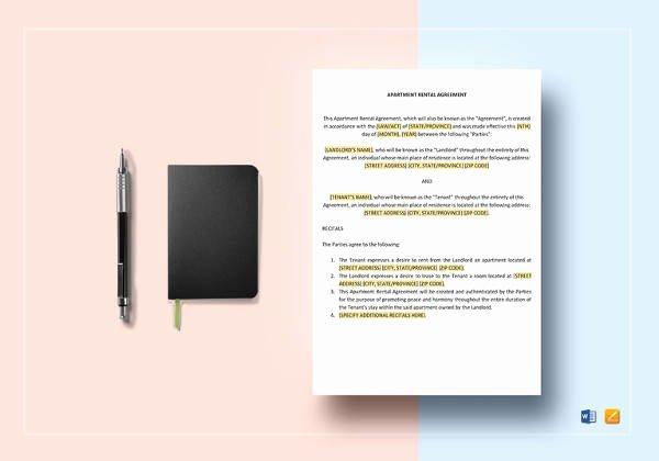 Simple Rental Agreement Template Word Best Of Sample Tenancy Agreement 16 Examples In Word Pdf