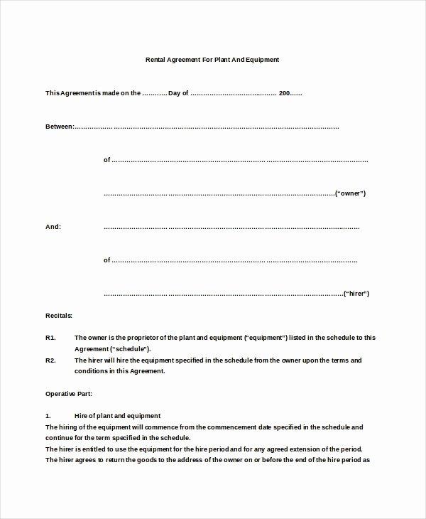 Simple Rental Agreement Template Word Fresh 26 Basic Rental Agreement Templates Doc Pdf