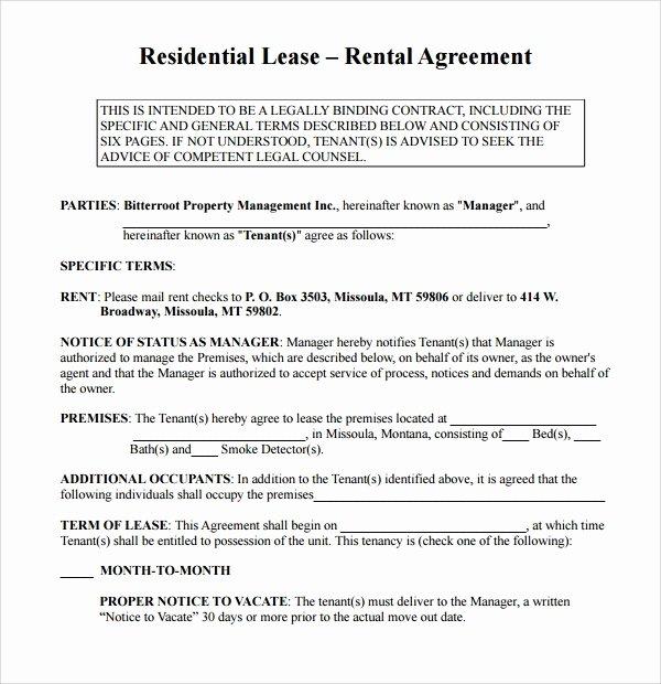 Simple Rental Agreement Template Word Fresh Simple Rental Agreement 9 Download Free Documents In