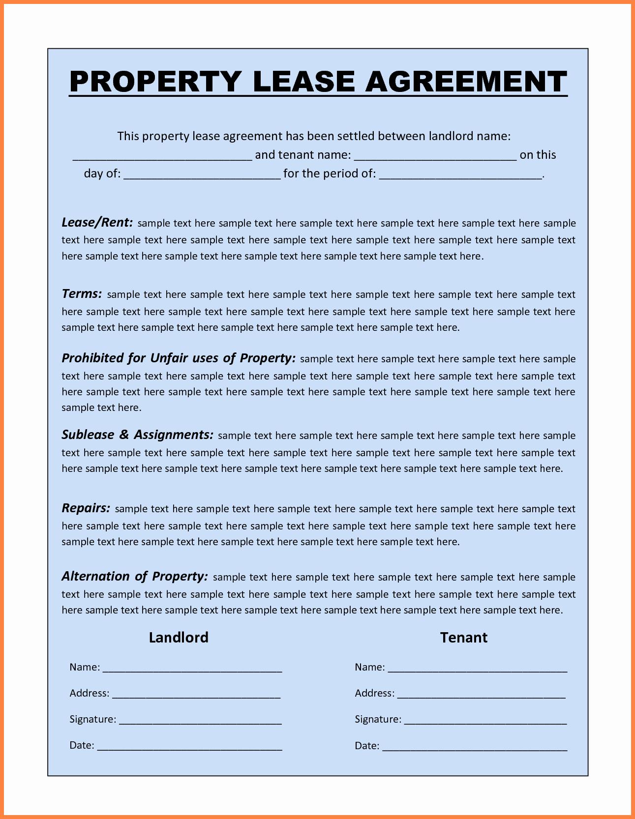 Simple Rental Agreement Template Word Inspirational 13 Mercial Lease Agreement Template Word