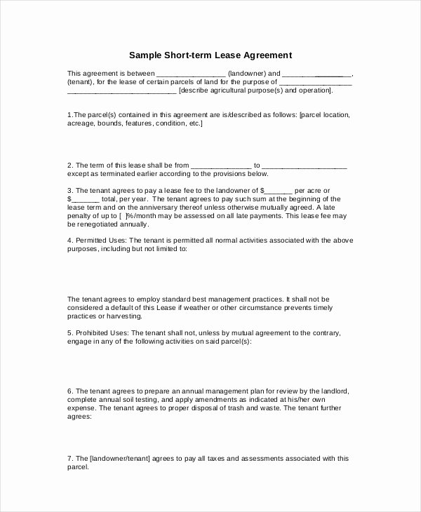 Simple Rental Agreement Template Word Inspirational 20 Basic Lease Agreement Examples Word Pdf