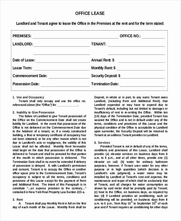 Simple Rental Agreement Template Word Inspirational Simple Rental Agreement – 10 Free Word Pdf Documents