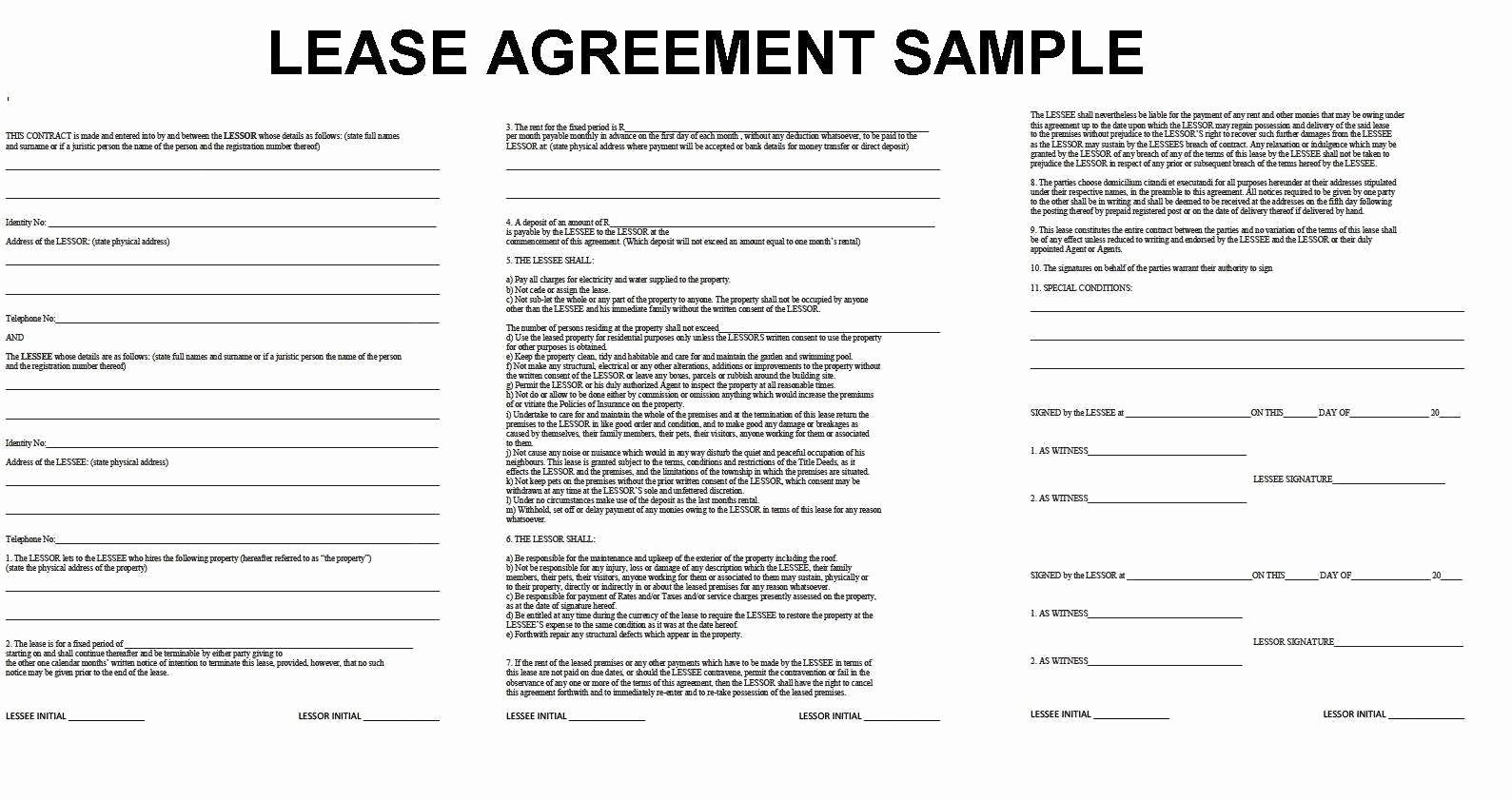 Simple Rental Agreement Template Word Lovely 43 Useful Lease Agreement Sample Word Ju T