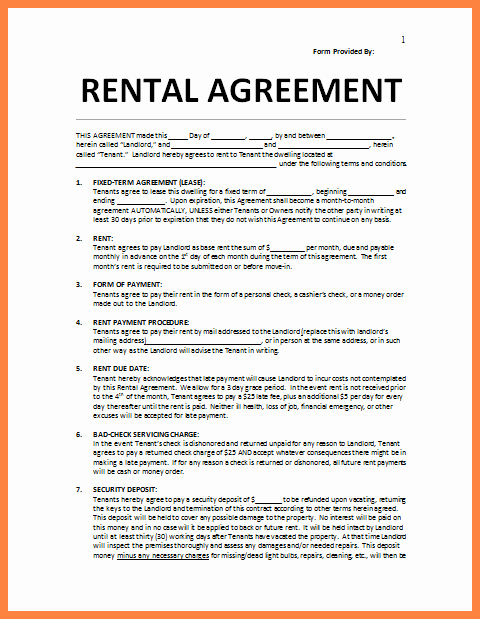 Simple Rental Agreement Template Word Unique 4 Residential Lease Agreement Template Word