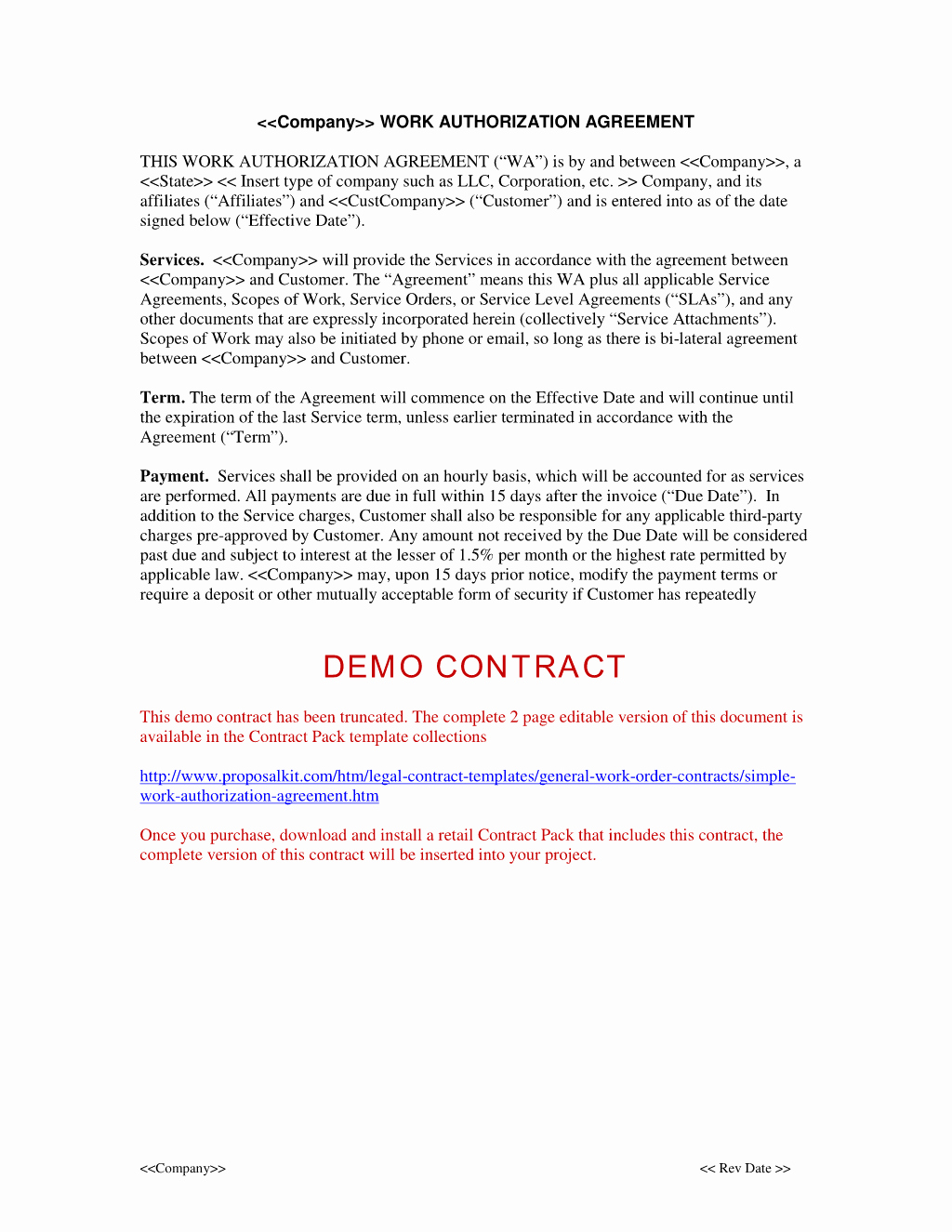 Simple Service Agreement Template New How to Write Your Own Simple Work Authorization Agreement