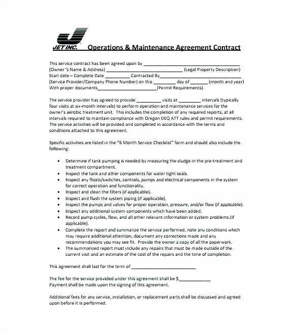 Simple Service Agreement Template New Simple Service Agreement Template