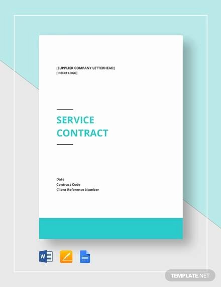 Simple Service Agreement Template Unique Simple Service Contract Sample 19 Examples In Word Pdf