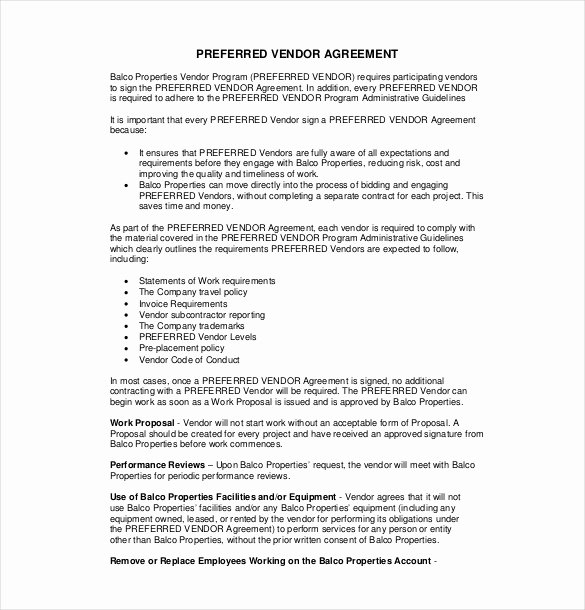 Simple Vendor Agreement Template Beautiful 27 Sample Vendor Agreement Templates Pdf Doc
