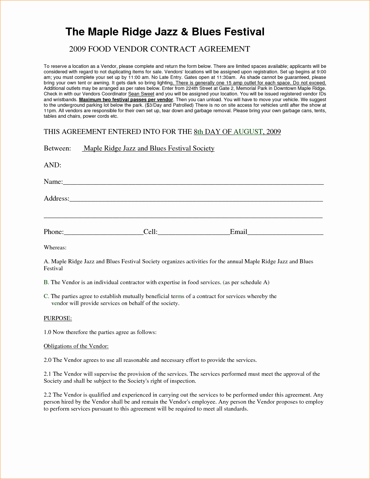 Simple Vendor Agreement Template Best Of 25 Of Basic Vendor Contract Template