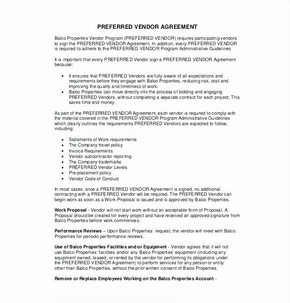 Simple Vendor Agreement Template Luxury Simple Vendor Agreement Template – Viabcp