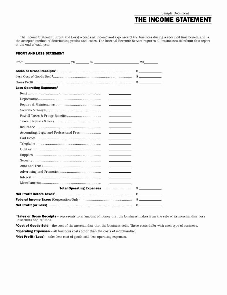 Simplified Income Statement Template Best Of 13 Different Types Of Financial Reports
