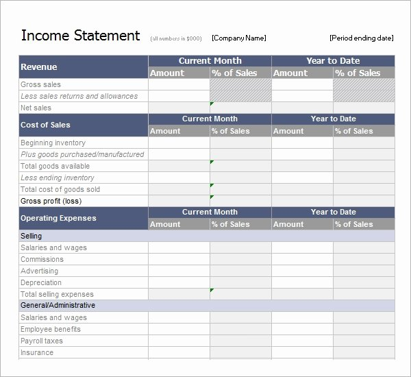 Simplified Income Statement Template Elegant Free 16 Free Sample In E Statement Templates In Pdf