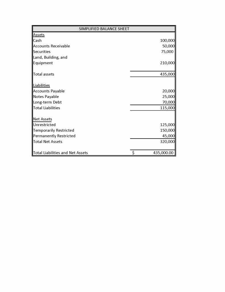 Simplified Income Statement Template Fresh Required Basic Financial Statements for Non Profits