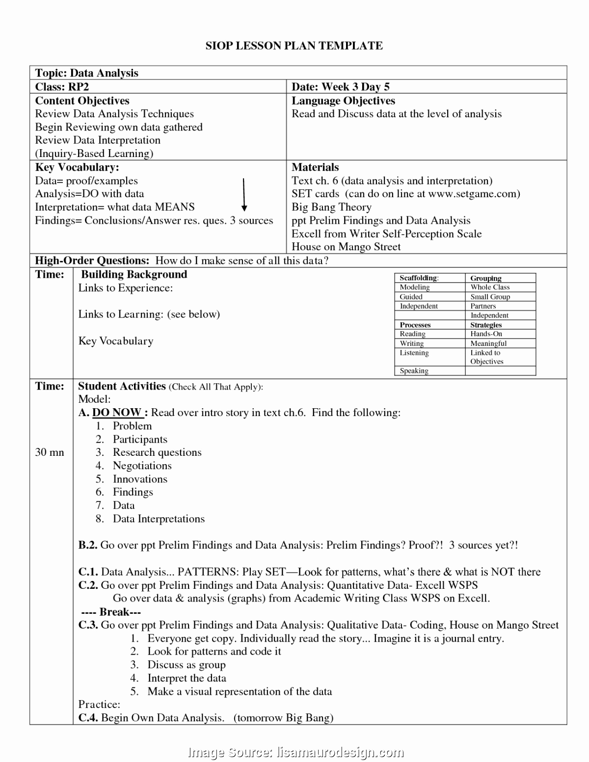 plex lesson plan templates high school english language art lesson coloring visual plan template daily 2 pdf 9