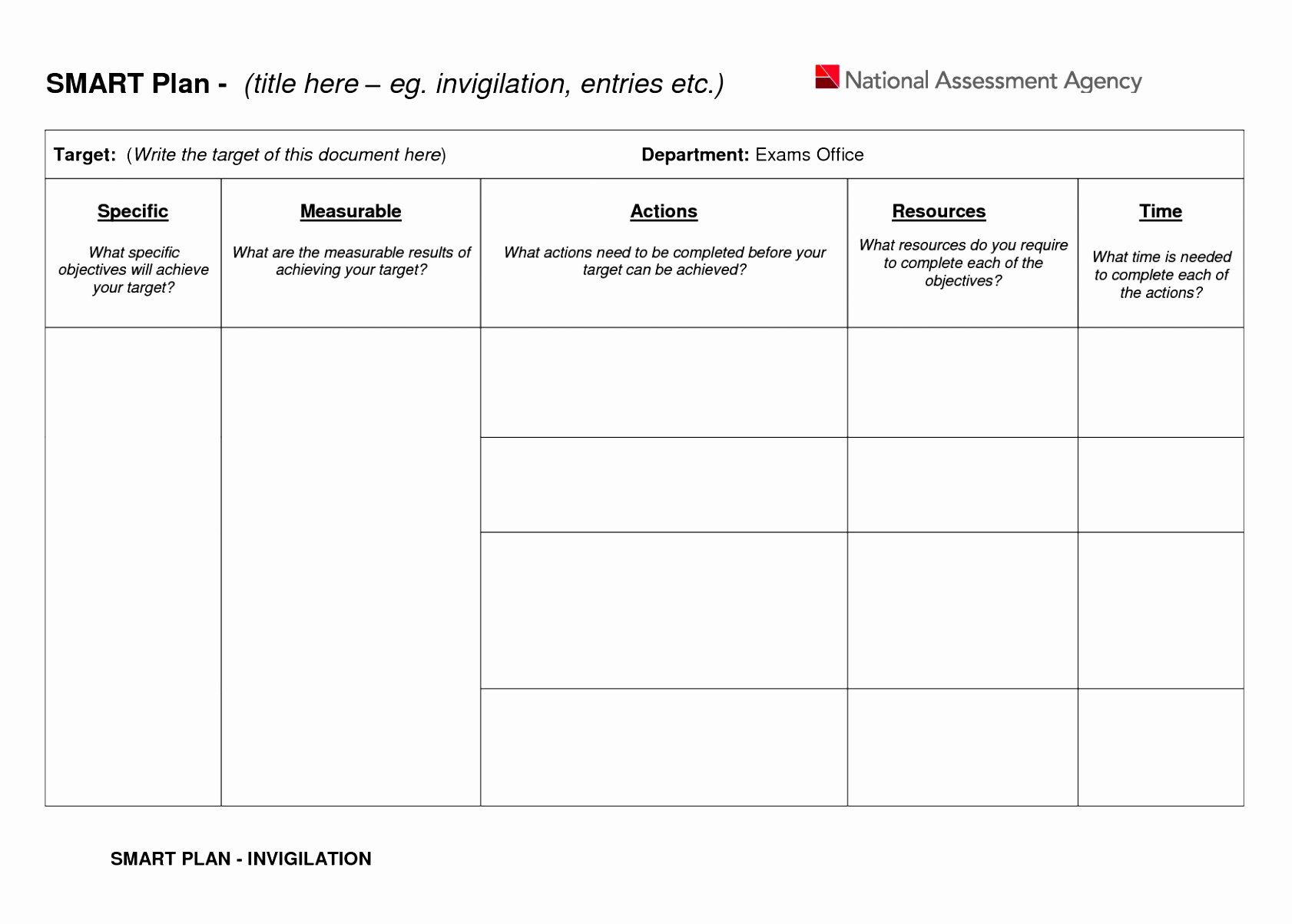Smart Action Plan Template New 6 Smart Action Plan Template Word Poiwa