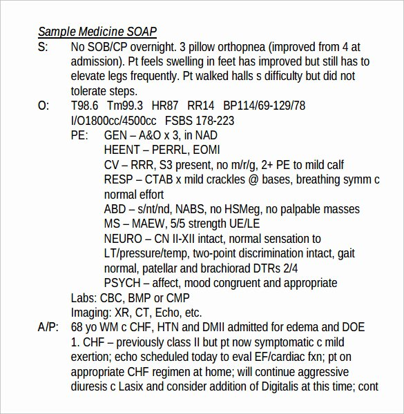 Soap Note Template Nurse Practitioner Awesome 26 Of Pediatric soap Note Template