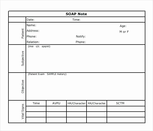 Soap Note Template Nurse Practitioner Awesome soap Note Template – Vinayakplaza